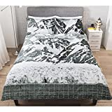 Stylish George Home Limitless Mountain Peaks Duvet Set King Sized - 225 x 220 cm and two pillowcase 48 x 74 cm