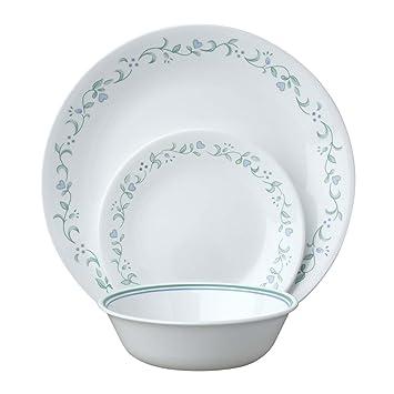 corelle service de vaisselle vaisselle pour 6 personnes 18 pi ces en verre verre vitrelle. Black Bedroom Furniture Sets. Home Design Ideas