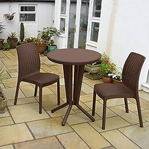 keter 3 piece bistro set patio lawn garden