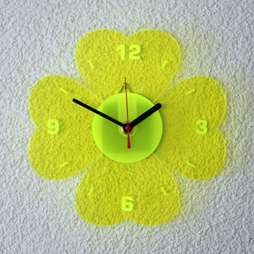 vetro-acrilico-orologio-da-parete-al-quarzo-21-cm-quadrifoglio-neon-trasparente-fluorescente-colori-