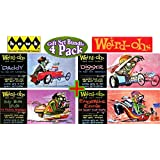 Hawk Weird-Ohs Car-Icky-Tures Daddy, Digger, Leaky Boat Louie & Endsville Eddie Wacky Monster Models Gift Set Bundle - 4 Pack