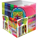 MAXELL CD-392 Double Slim Line CD Jewel Cases (pkg of 25 doubles)