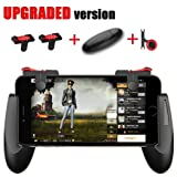 Mobile Game Controller [Upgrade Version] - WeeDee Fortnite PUBG Mobile Controller with Gaming Trigger,Gaming Grip and Gaming Joysticks for 4.5-6.5inch Android IOS Phones (Color: white1)