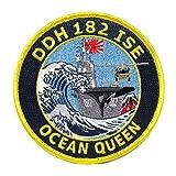 自衛隊グッズ ワッペン 海上自衛隊 ヘリ空母いせ OCEANQEENパッチ ベルクロ付