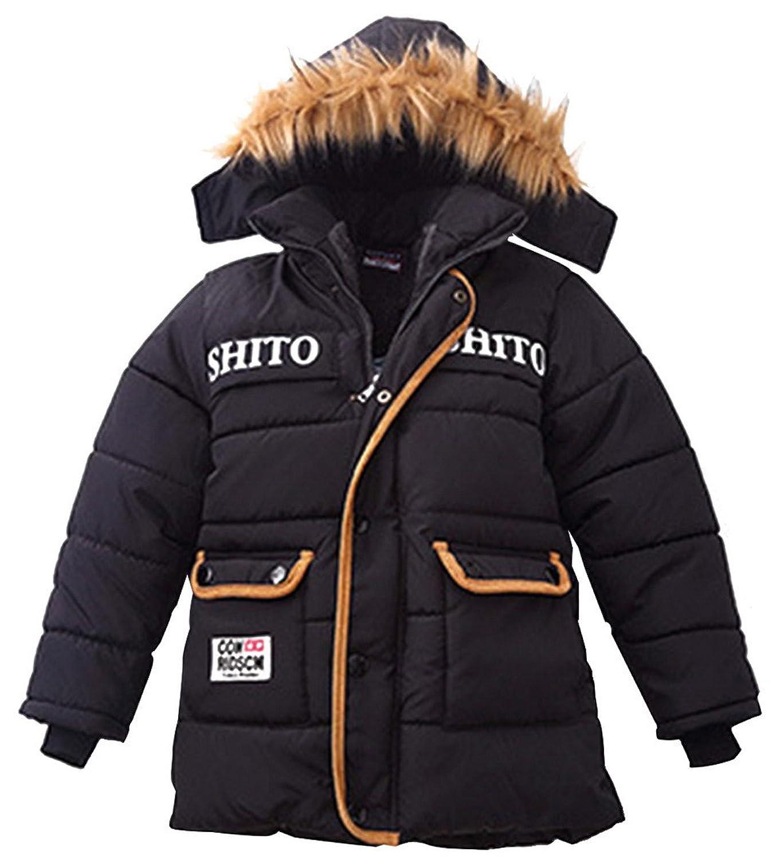 Kinder Jungen Jacket Gefütterte Gesteppte Winterjacke Outdoorjacke Mantel mit Kapuze günstig online kaufen