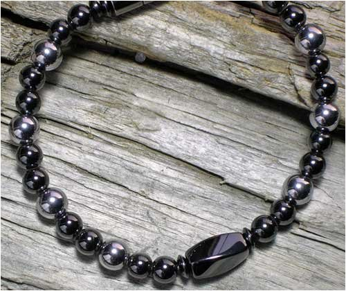 Black and Silver All Magnetic Bracelet *High-Powered*
