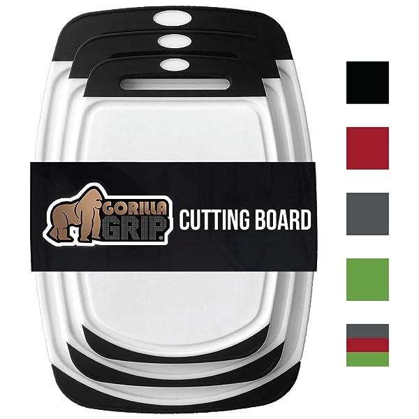 GORILLA GRIP Original Reversible Cutting Board (3-Piece