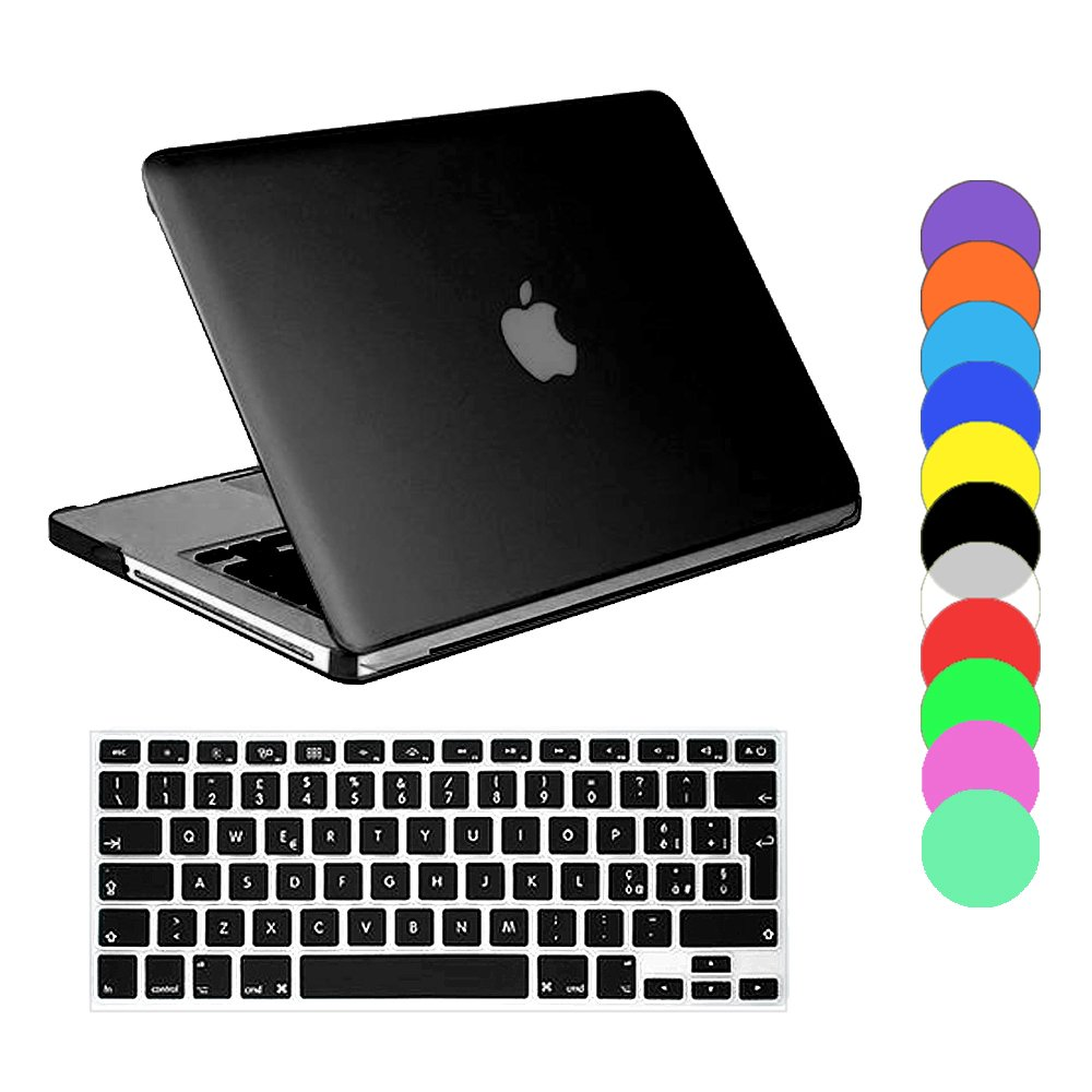 "COVER CUSTODIA RIGIDA PER APPLE MACBOOK PRO 13"" CRYSTAL COPRI TASTIERA SILICONE"