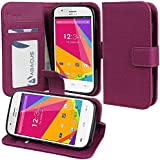BLU Advance 4.0 A270a Case, Abacus24-7 BLU Advance 4.0 Wallet Case with Flip Cover, Stand and Pockets for ID, Credit Cards - Purple BLU Advance 4.0 A270a Flip Case