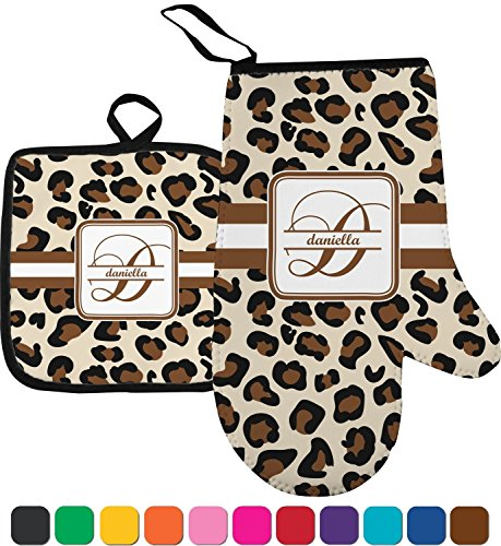 Leopard Print Personalized Oven Mitt & Pot Holder