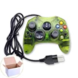Mekela Classic Wired Controller Gamepad Joysticks for Xbox S Type Console (ClearGreen)