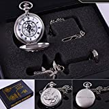 Fullmetal Alchemist Anime Pocket Watch & Necklace & Ring Cosplay Prop Accessories