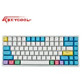 Keycool Hero 84 2019 Edition Mechanical Keyboard Cherry MX Switches Mini Gaming 84 Keys Keyboard (Cherry MX Red) (Color: Cherry MX Red (Muti Color))