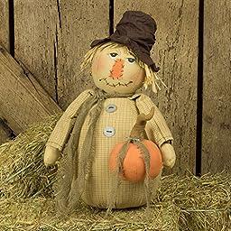 Vintage Scarecrow with Pumpkin