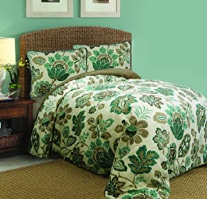 Scent-Sation Ikat Floral Comforter Set, Twin