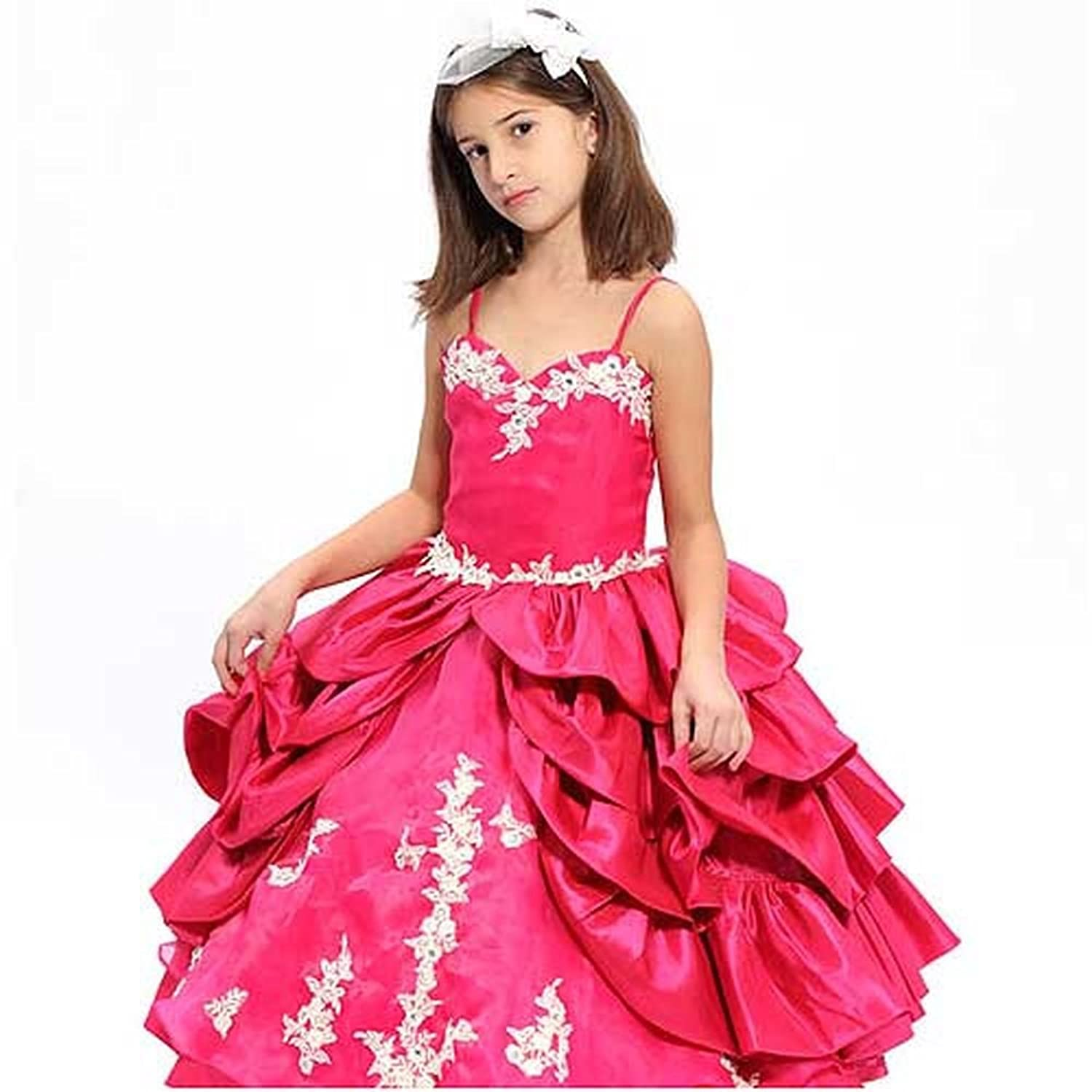 Designer Girls Clothing-size 4-14 Designer Fuchsia Jeweled