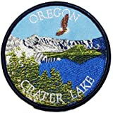 Oregon Crater Lake Eagle Travel Souvenir Embroidered iron on Patch