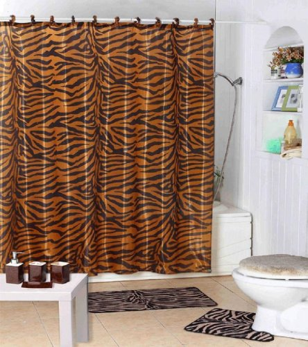 Cheap Dreamkingdom – Gold/Brown Zebra Design Shower Curtain with ...