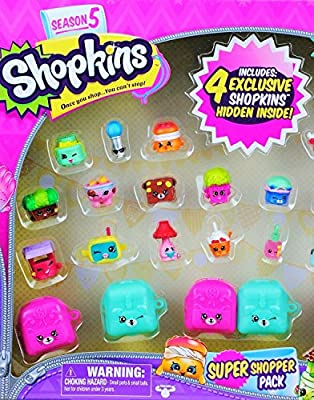 Shopkins Season 5 Super Shopper Pack, Includes 4 Exclusive Shopkins Hidden Inside - Characters May Vary (32 Pieces) from Shopkins