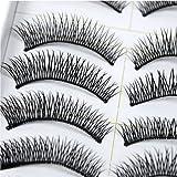 Künstliche Wimpern 10 x Paar SET Falsche Eyelashes Dicht 028