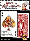 Alice In Wonderland Playing Cards  Red Back Deck