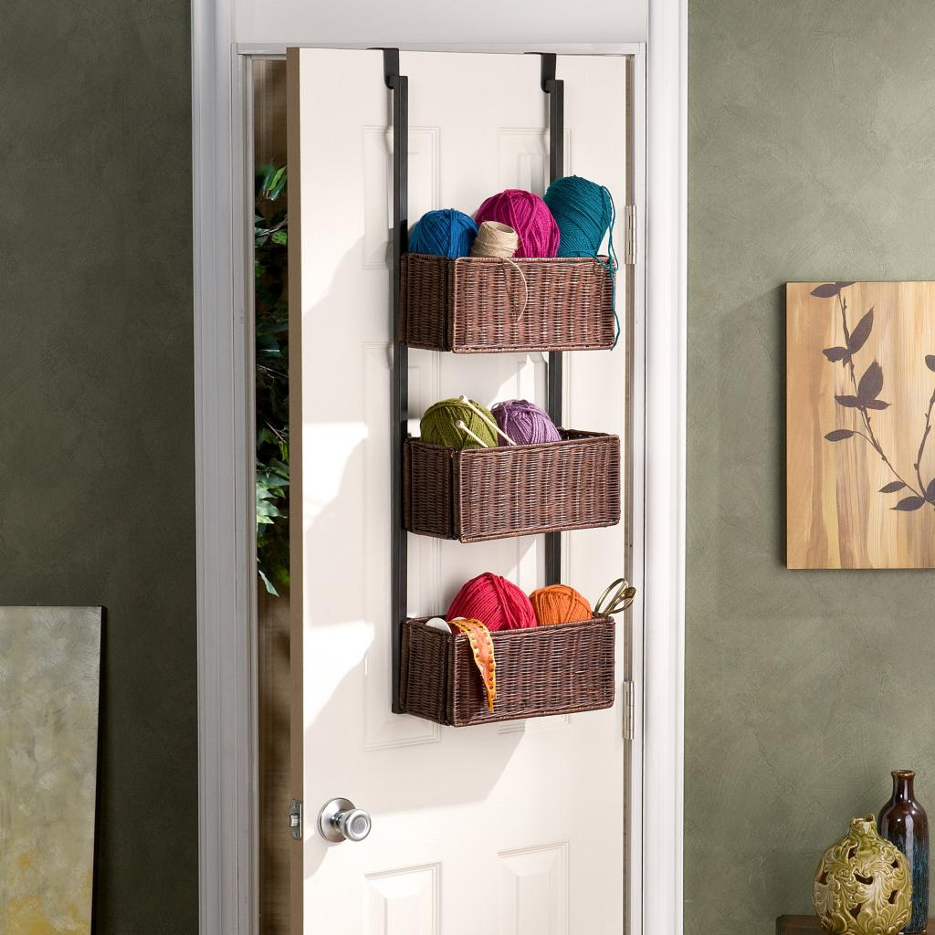 southern enterprises over the door 3 tier basket storage home kitchen. Black Bedroom Furniture Sets. Home Design Ideas