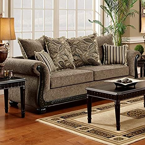 Chelsea Home Furniture Carol Sofa, Dream Java