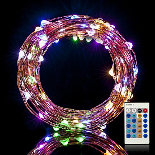 Led String Lights Dimmable : Weico Dimmable LED String Lights Copper Wire Lights, Multi Color Waterproof LED Starry Light ...