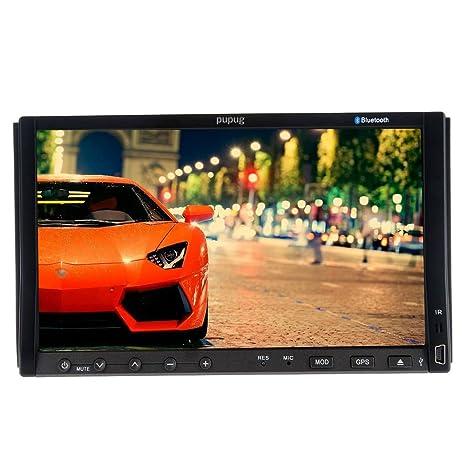 Pupug šŠcran 7 pouces motorisšŠ tactile numšŠrique 2 din voiture lecteur dvd double din voiture VidšŠo Radio Two Din GPS de voiture Bluetooth en option avec iPod / Fonction / RDS bricolage Param&scar