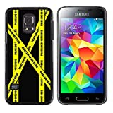 Stuss Case / Hard Protective Case Cover - Don'T Go Police Tape Crime Scene Yellow - Samsung Galaxy S5 Mini, SM-G800, NOT S5 REGULAR!