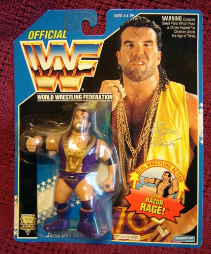 Wwf Razor Ramon Aka Scott Hall On Blue Hasbro Card Wwe Wcw Ecw Picture