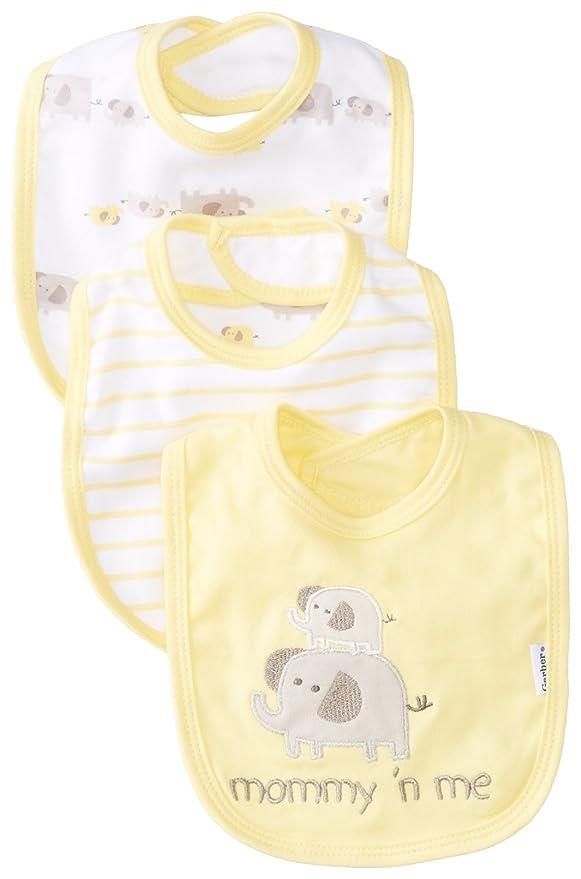 Gerber Unisex-Baby Newborn 3 Pack Terry Dribbler Bibs