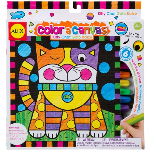 ALEX Toys Artist Studio Color a Canvas Kitty Kit