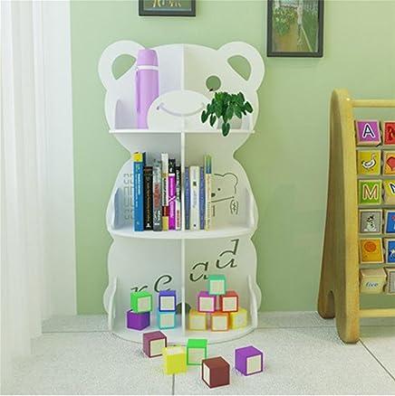 Scaffali per animali Scaffali per bambini GZD Scaffali per giocattoli Libreria per cello del fumetto Camera da letto Soggiorno 110 * 55 * 79.8cm , bears bookshelf white