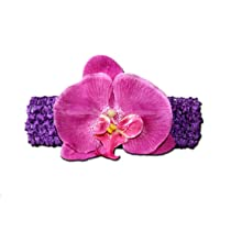 PURPLE ORCHID Jewel Gerbera Daisy Flower Crochet Headband Gerber for Girls/ Child/ Baby Toddler apparel head hair band bow bows girl soft infant youth accessory by BubuBibi