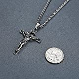 Stainless-Steel-Jesus-Christ-Crucifix-Cross-Religious-Pendant-Necklace-Unisex-24-Chain-ddp014