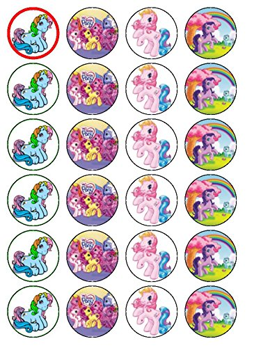 My Little Pony 24 x (#2 décorations pour cupcakes