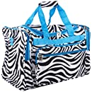 Zebra Duffel Bag Blue Trim 19
