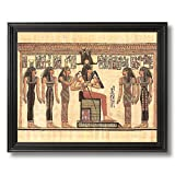 Solid Wood Black Framed Egyptian Hieroglyphics I Kids Room Contemporary Pictures Art Print