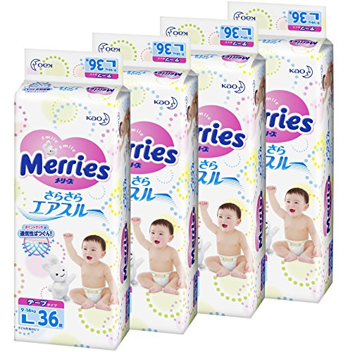 Mary's tape (tape) even more bi L size (size) (9-14 kg) 144 pieces (36 × 4)