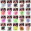 1000 Colourful Rainbow Rubber Loom Bands With Clips