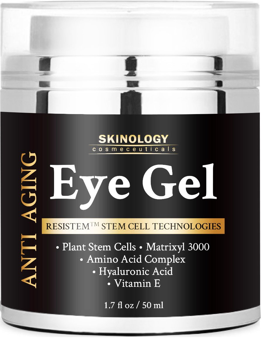 Eye Cream for Dark Circles, Wrinkles, Puffiness, Fine Lines & Bags - The Most Effective Eye Gel for Every Eye Concern - All Natural Anti Aging Skin Firming Gel Treatment for Men and Women - 1.7 fl. oz