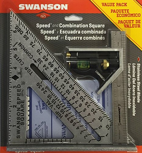 swanson-tool-s0101cb-speed-square-layout-tool-with-blue-book-and-combination-square-value-pack