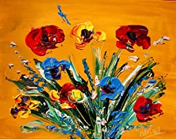 Contemporary Gallery Fine Art - Stretched Mounted Canvas Paintings- Signed By Mark Kazav!!!