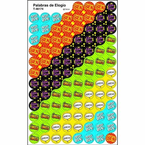"Trend Enterprises ""Palabras de Elogio"" Spanish Praisers Super Spots Sticker"