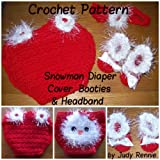 Crochet Pattern - Snowman Diaper Cover Set