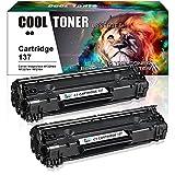 Cool Toner 2 Pack Cartridge 137 Toner Cartridge Replacement For Canon Cartridge 137 Crg137 Imageclass MF229Dw MF227Dw MF216N MF247Dw MF212W MF249Dw MF244Dw MF236N Lbp151dw MF217W Printer Ink Cartridge