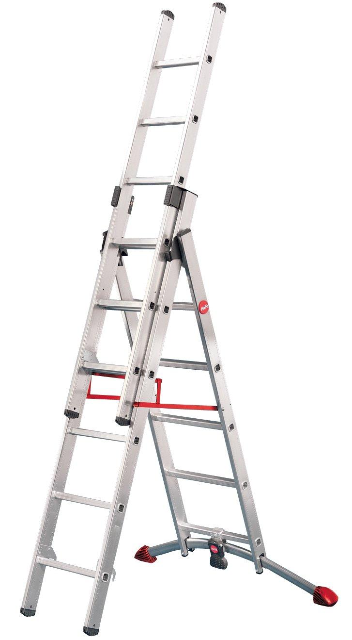 Hailo 9306501 AluKombileiter 2x6+1x5 Sprossen Hailo ProfiLOT  BaumarktKundenbewertung: