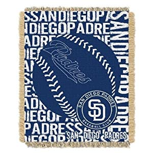 MLB San Diego Padres 48 x 60-Inch Double Play Jacquard Triple Woven Throw by Northwest