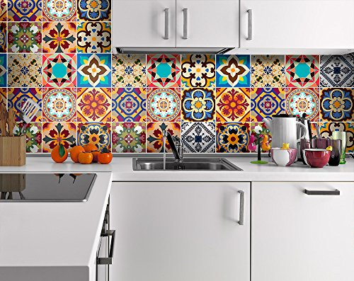 Stickers for ceramic tiles